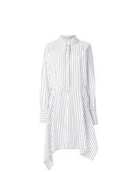 Vestido camisa de rayas verticales blanca de JW Anderson