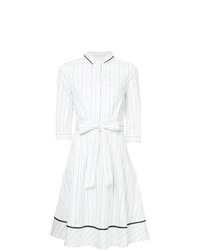 Vestido camisa de rayas verticales blanca de Loveless