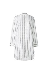Vestido camisa de rayas verticales blanca de MSGM