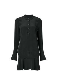 Vestido camisa de seda negra de Equipment