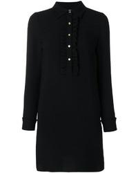 Vestido camisa de seda negra de MICHAEL Michael Kors