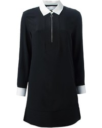 Vestido camisa en negro y blanco de Victoria Beckham