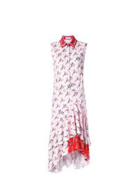 Vestido camisa estampada blanca de Preen by Thornton Bregazzi