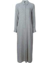 Vestido camisa gris de Theory