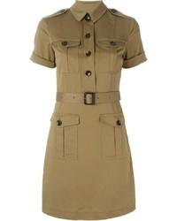 Vestido camisa marrón claro de Burberry