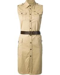 Vestido camisa marrón claro de Dsquared2