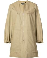 Vestido camisa marrón claro de Isabel Marant
