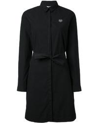 Vestido camisa negra de Kenzo