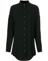 Vestido Camisa Negra de Saint Laurent