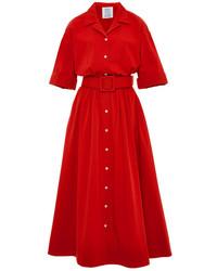 Vestido camisa roja