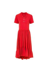 Vestido camisa roja de À La Garçonne