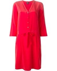 Vestido camisa roja de DKNY