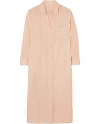Vestido camisa rosada