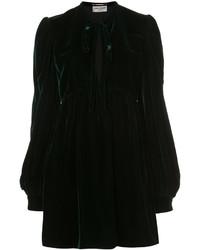 Vestido Camisa Verde Oscuro de Saint Laurent