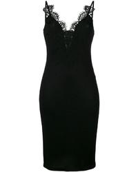 Vestido camisola de encaje negro de Givenchy