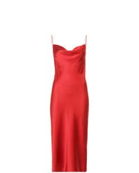 Vestido camisola de satén rojo de Fleur Du Mal