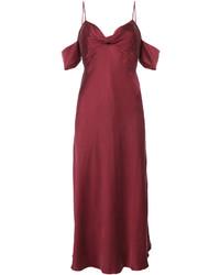 Vestido camisola de seda rojo de Zimmermann