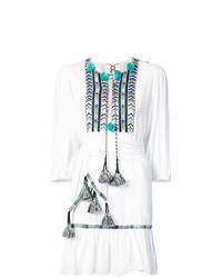 Vestido campesino bordado blanco