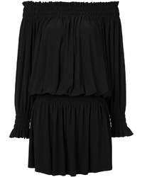 Vestido campesino negro de Norma Kamali