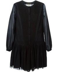 Vestido campesino negro de Saint Laurent