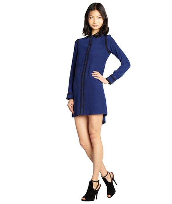 Como combinar vestido azul marino casual