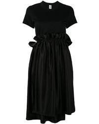 Vestido casual con volante negro