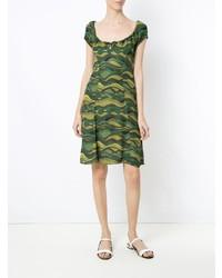Vestido casual de camuflaje verde oliva de Amir Slama