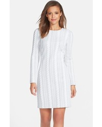Vestido casual de punto blanco