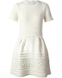 b3da65a9e Comprar un vestido casual de punto blanco  elegir vestidos casual de ...