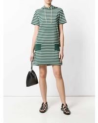 Vestido casual de rayas horizontales verde de Sacai