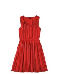 Vestido casual plisado rojo