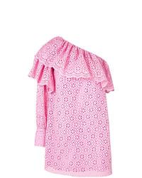 Vestido con hombros al descubierto con ojete rosado de MSGM