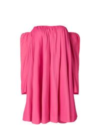 Vestido con hombros al descubierto con volante rosa de Calvin Klein 205W39nyc