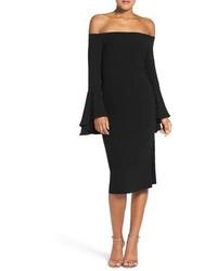 Vestido con hombros al descubierto negro