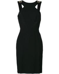 Vestido con ojete negro de Versace