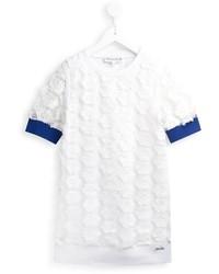 Vestido con print de flores blanco de Simonetta