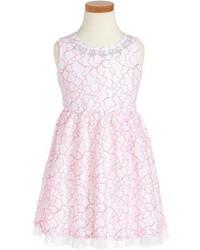 Vestido con print de flores rosado