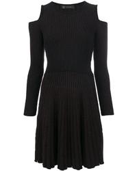 Vestido con Recorte Negro de Versace