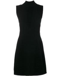 Vestido con relieve negro de Versace
