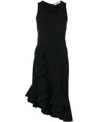 Vestido con volante negro de Givenchy