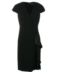 Vestido con volante negro de Versace