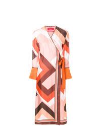 Vestido cruzado estampado en multicolor de F.R.S For Restless Sleepers