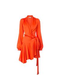 Vestido cruzado naranja de Patbo