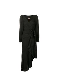 Vestido cruzado negro de Maria Lucia Hohan