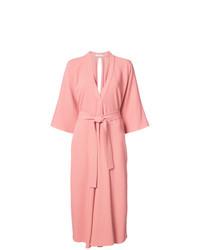 Vestido cruzado rosado de Tome
