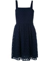 Vestido de crochet azul marino de MICHAEL Michael Kors