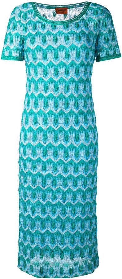 21a764a28f46 Vestido de crochet de punto en verde azulado de Missoni, MEX$25,505 ...