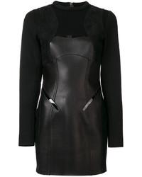 Vestido de Cuero Negro de Dsquared2