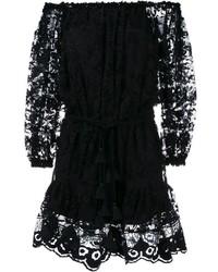 Vestido de encaje negro de Chloé