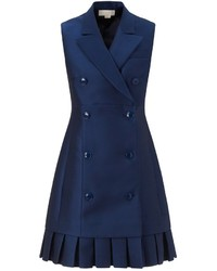 Vestido de esmoquin azul marino